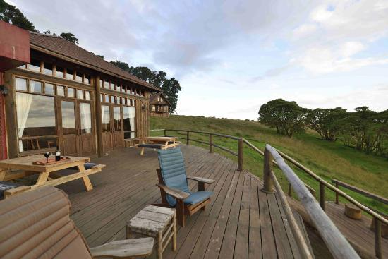 Nyika National Park, Malaui: The outdoor deck, good spot for watching wildlife