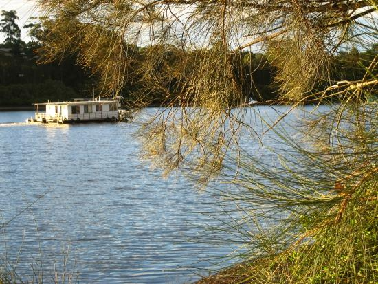 Nelligen, Avustralya: Houseboat from Bateman's Bay