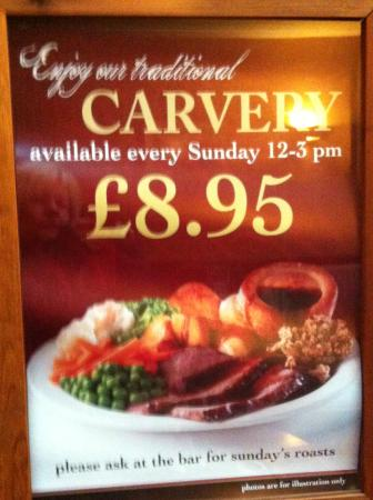Oakeley Arms Hotel: Sunday Carvery