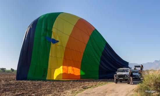 Hoedspruit, Sør-Afrika: perfect landing!