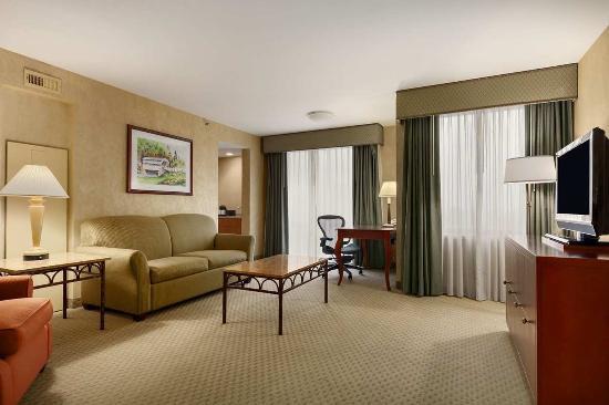 Wayne, Пенсильвания: Corner Suite Living Area