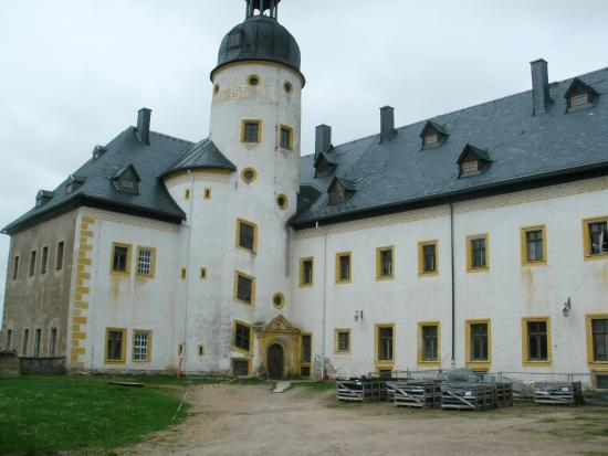 Frauenstein, Germany: Der Innenhof des Schlosses...