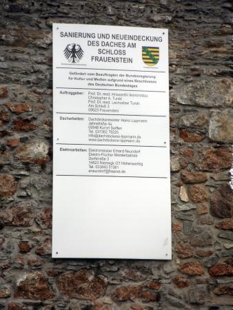 Frauenstein, Γερμανία: ... das gerade saniert wird