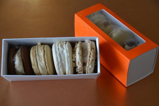 Inverloch, Australia: Mixed gelati macarons.