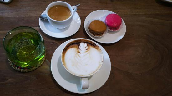 CHOCOLATE by The SHOP: Coffee and Macaroon is a must try.
