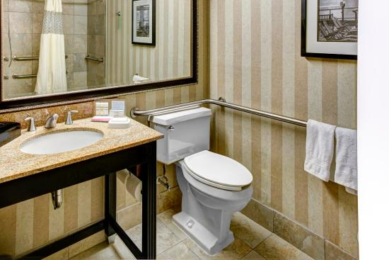Hampton Inn Baltimore - Washington International Airport: Accessible Roll-in Shower