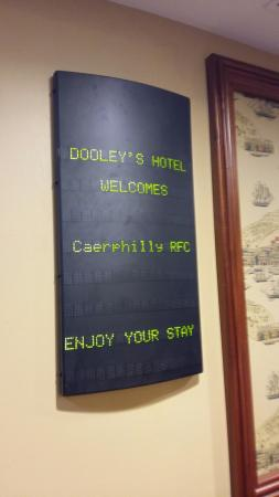 Dooley's Hotel Waterford: Welcome reception