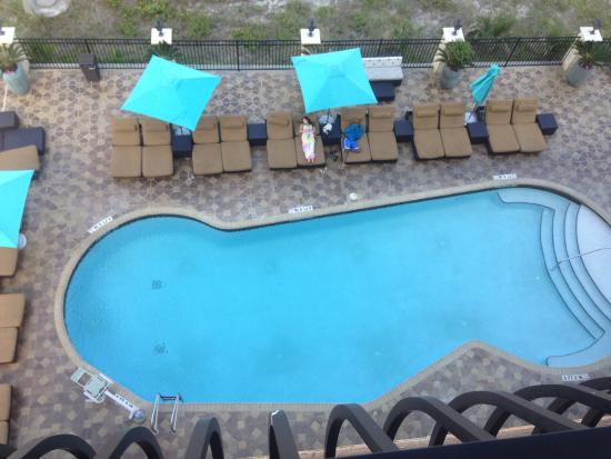 Atlantic Beach, FL: Pool view from 5th floor