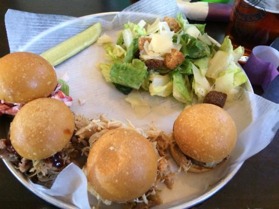 Bethel, ME: Slider app. Lobster, beef, pork, & chicken