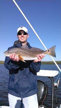 Fin Stalker Charters: Nice Redfish taken in the flats in Charleston Harbor!
