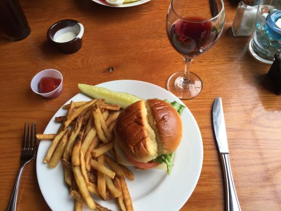 Berkeley Springs, WV: Veggie burger with optional fries