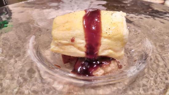 Izutsuya: foie gras with Japanese omelet