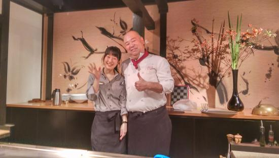 Izutsuya: Chef and his daughter. Both were so nice and welcoming!