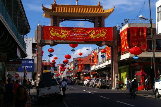 pagoda chinese temple picture of china town port louis. Black Bedroom Furniture Sets. Home Design Ideas