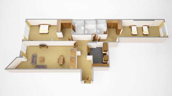 Sanctum International Serviced Apartments : 2 bedroom super deluxe floorplan