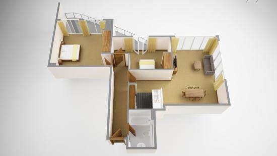 Sanctum International Serviced Apartments : 2 bedroom superior floorplan