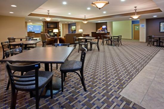 Breakfast Seating Area at Holiday Inn Express Devils Lake