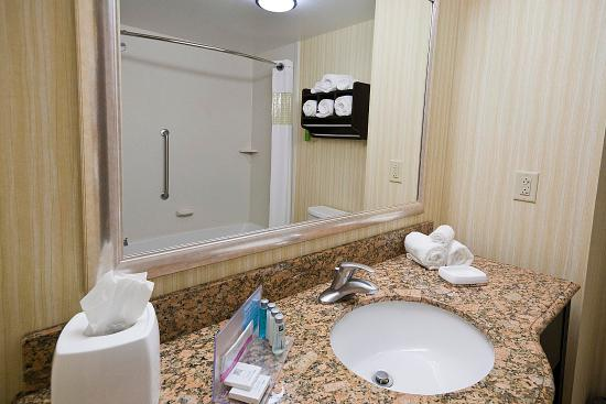 Hampton Inn Rochester-Irondequoit : Queen Guest Bathroom