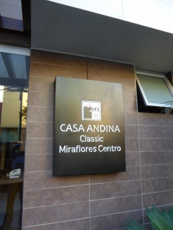 Casa Andina Standard Miraflores Centro: Sign