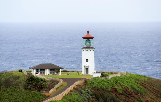 The Kilauea Lighthouse from a distance.