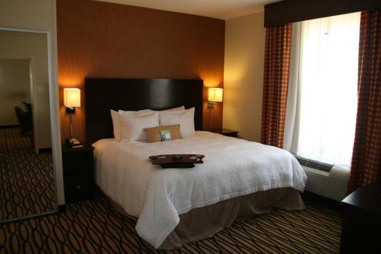 Hampton Inn & Suites Morgan City : Whirlpool Suite Bedroom