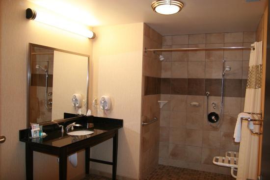 Hampton Inn & Suites Spokane Valley : Roll in Shower