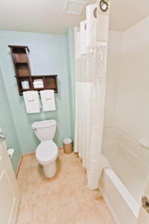 Exeter, Nueva Hampshire: Double Queen Studio Bathroom