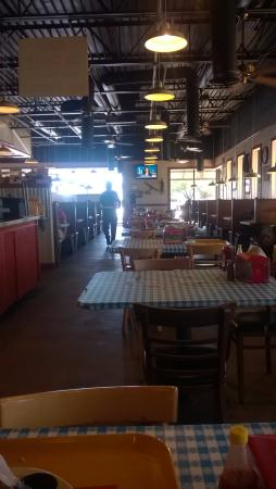 "Dickey's Barbecue Pit: The dining room, real ""down home"" ambiance."