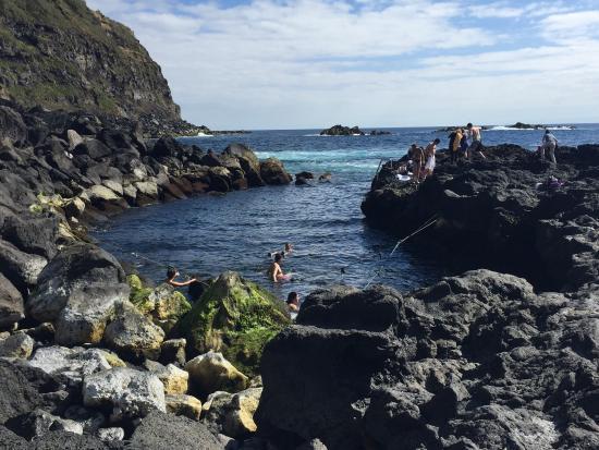 Piscina naturale di Ferreira : Fantástico! Experiência imperdível onde as aguas do Atlantico se fundem com as correntes quentes