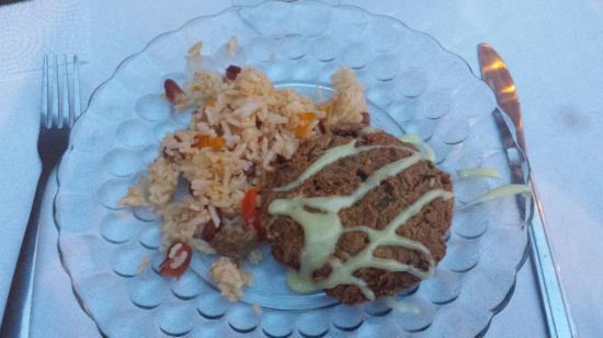 Washington, MO: Crab cake and rice filler