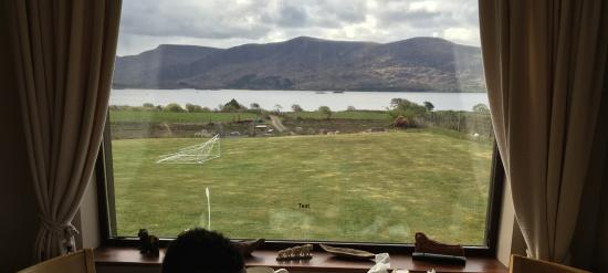 Currane Lodge: View from dining area.
