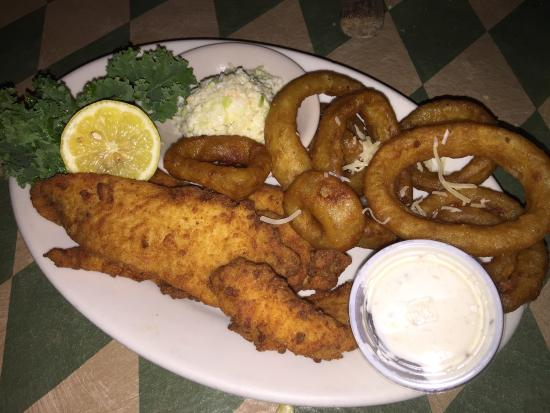 Valley, AL: Fried Grouper Filets with Slaw and Onion Rings