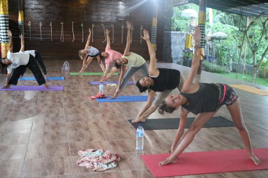 The best pointing is acomodation with yoga energy picture of
