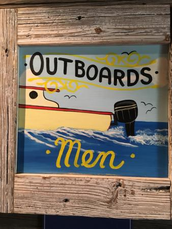 Skippers Dockside Funny Mens Bathroom Sign