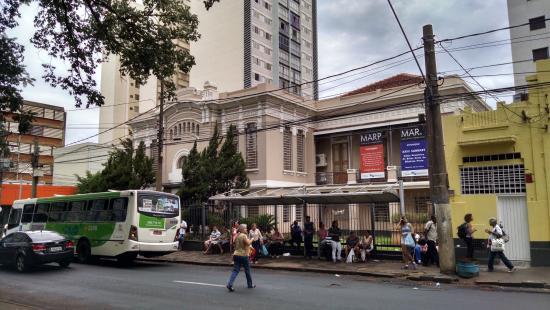 Museu de Arte De Ribeirao Preto: O ponto de ônibus não favorece a vista, mas facilita o acesso.