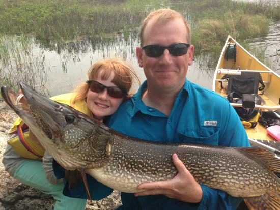 Ely, MN: Little girl catches big fish!