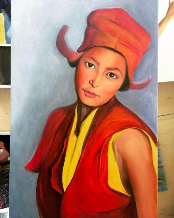 Noina Art Studio: This was my last piece with Noina, As I got more confident, I moved on to oil painting.