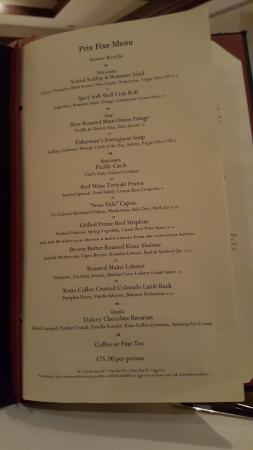 Hoku's Prix Fixe Menu- way to go so you can taste all the chef's creations!