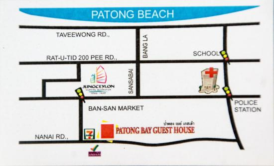Patong Bay Guesthouse : hotel directions