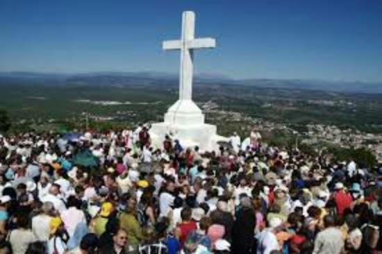 Medjugorje, บอสเนียและเฮอร์เซโกวีนา: Il monte Križevac o monte della Croce