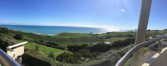 New Plymouth, Nueva Zelanda: 180 degrees view from outside