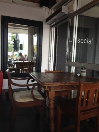 Beautiful tables and chairs at the Nambour Social