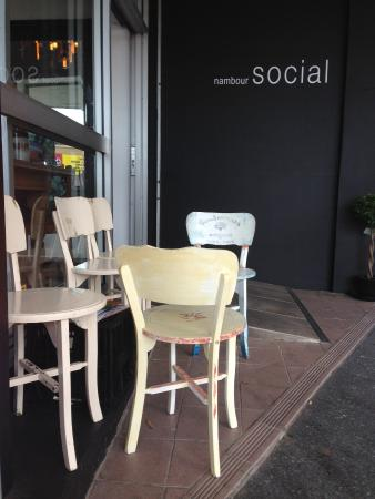Outside seating at Nambour Social.