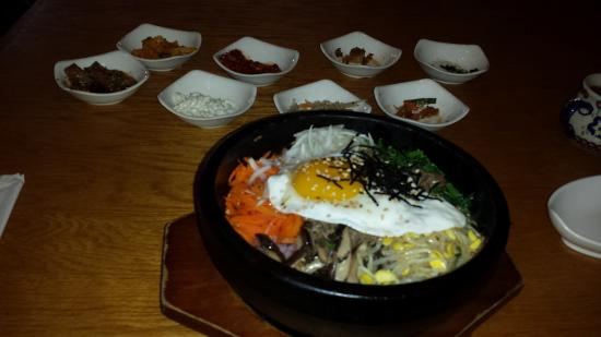 Dolsot bibimbap before picture of asiana korean for Asiana korean cuisine restaurant racine