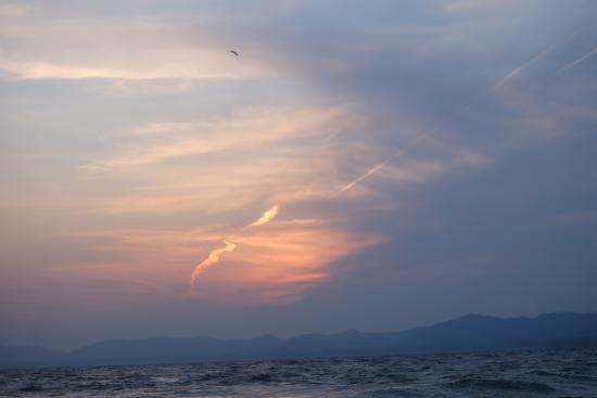 Pleasure Boat at Lake Shinji- The Hakucho: 雲隠れ