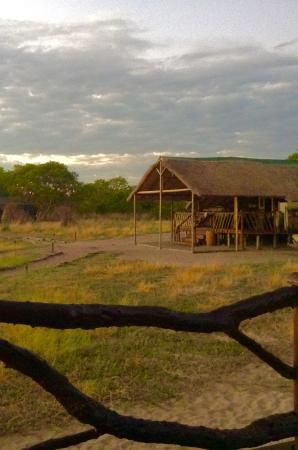 Camp Savuti: The view from our tent cabin of the main lodge.