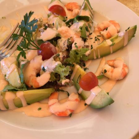 Casa Italia : Avocado con gamberi freschi