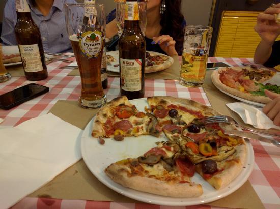 Pizzeria Ponte Crencano: Diavola più birra artigianale