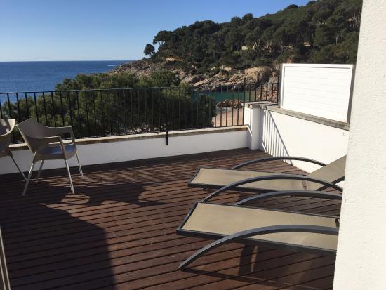 Hotel Tamariu: La terrasse