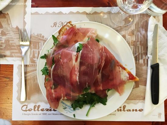 Pizzeria alla Fontana: Pizza Romagnola